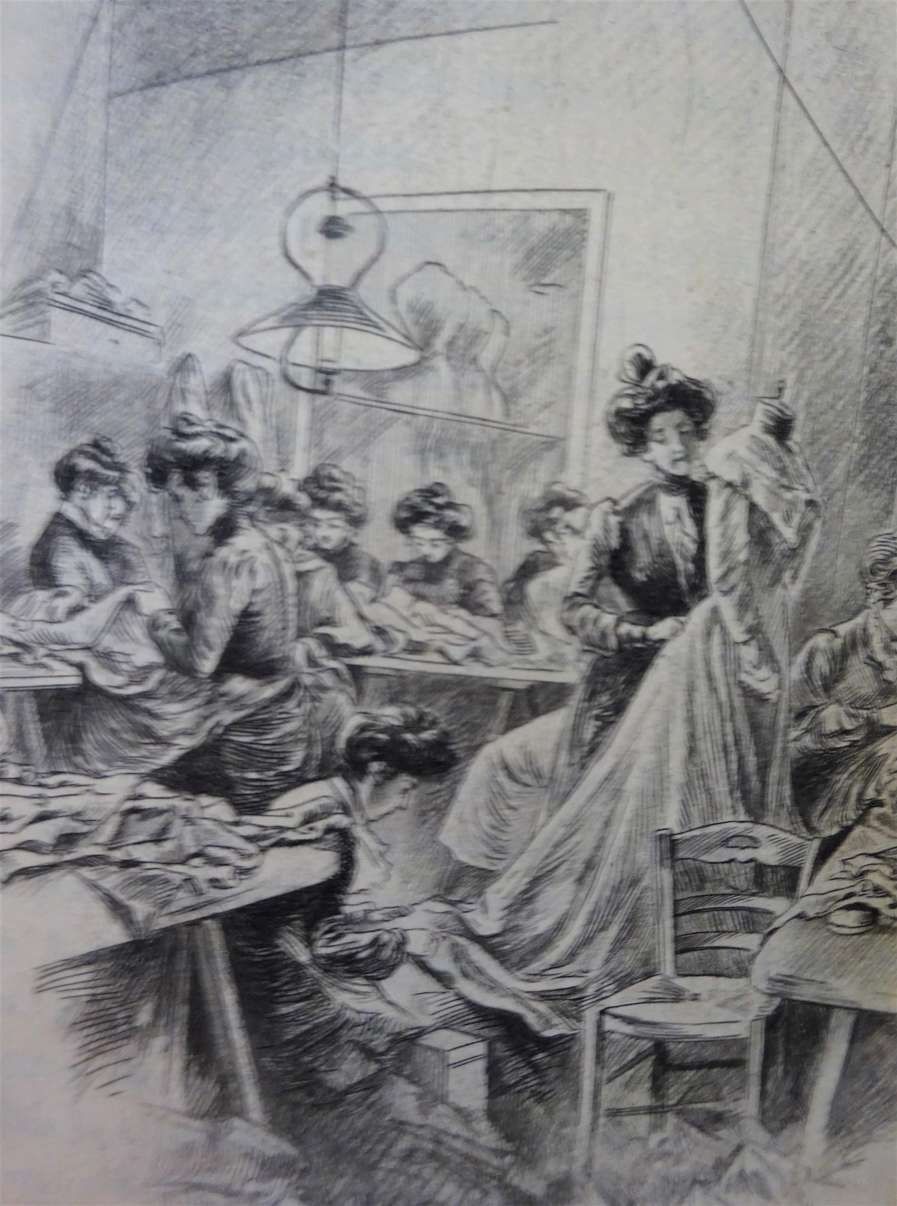 Les reines de l'aiguille. Modistes et couturières (Etude Parisienne)