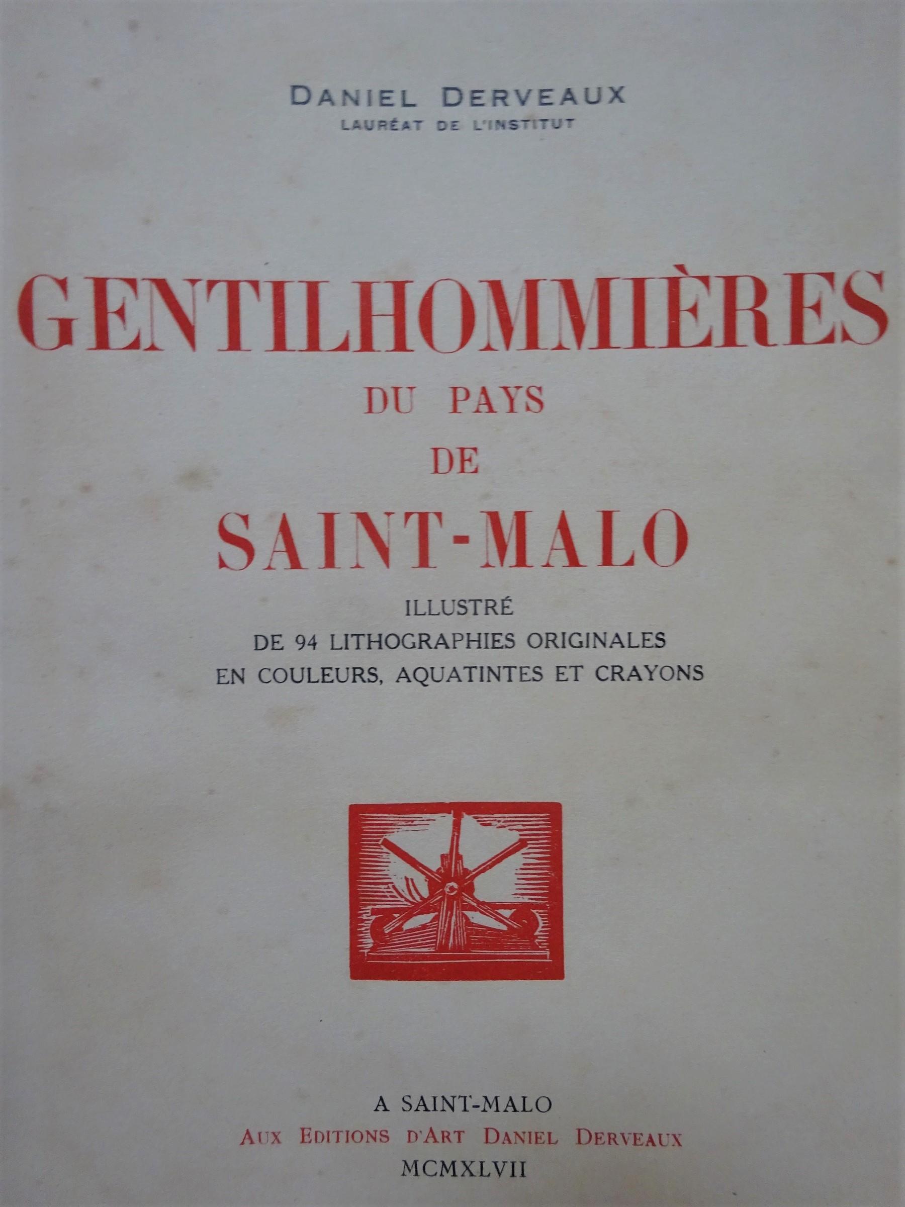 Gentilhommières du pays de Saint-Malo