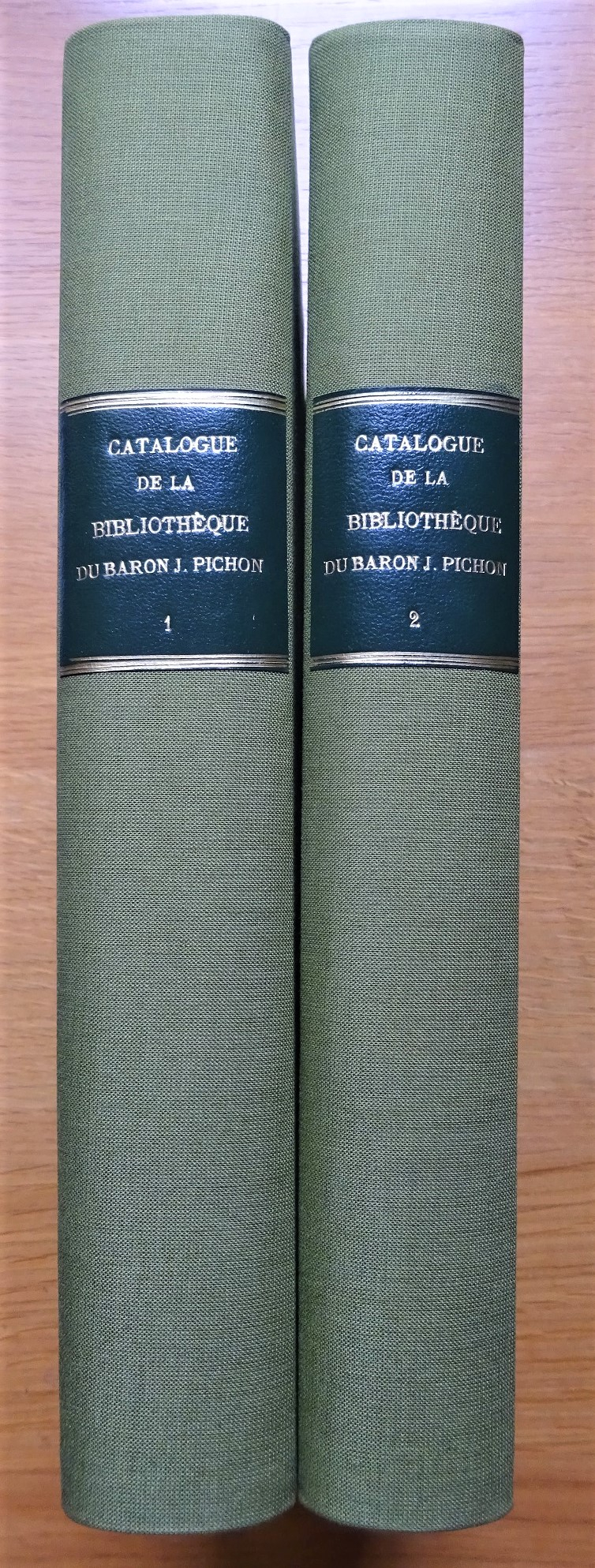 Catalogues de la bibliothèque du baron Jérôme Pichon