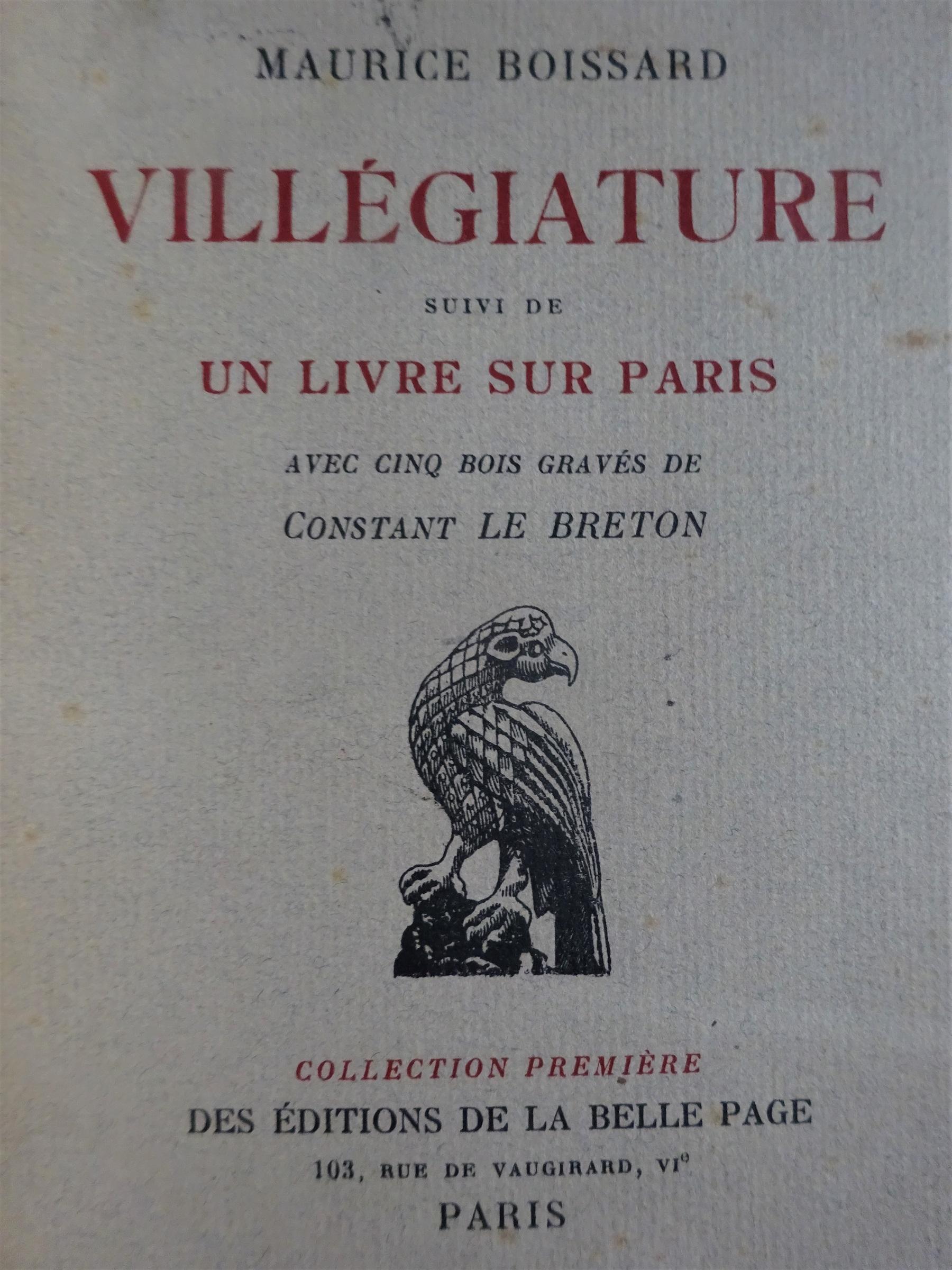 Un livre sur Paris .