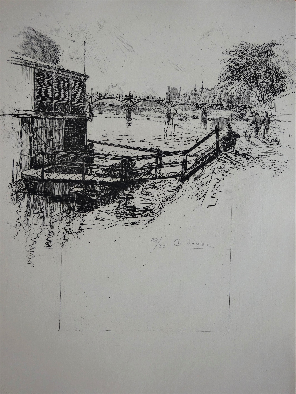 La Seine du Point-du-Jour à Bercy. Charles Jouas un illustrateur de Paris