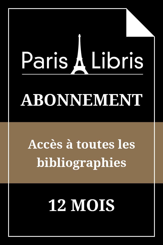 Abonnement  12 mois aux bibliographies