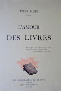 L'amour des livres