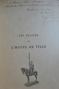 Les statues de l'Hôtel de Ville Envoi au ministre de l'Instruction publique et des Beaux Arts
