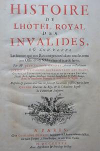 Histoire de l'Hôtel royal des Invalides 1736