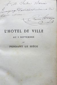 L'Hôtel de ville au 4 septembre et pendant le Siège