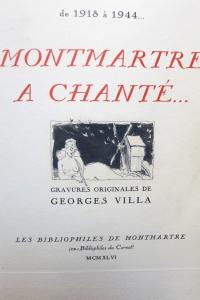 Montmartre a chanté. Préface par Valentin Tarault.