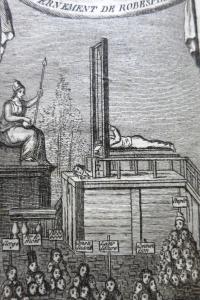 Tableau des prisons de Paris sous le règne de Robespierre.